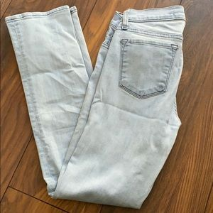 Light blue jbrand skinny jeans